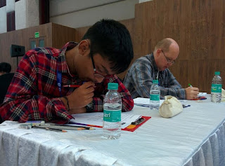 Pranav Kamesh during World Sudoku Championship 2017