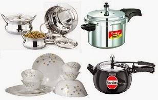 Home Mega Sale: Cookware, Dinnerware, Pressure Cooker – Upto 50% Off + 10% Extra Off on Mobile App @ Flipkart