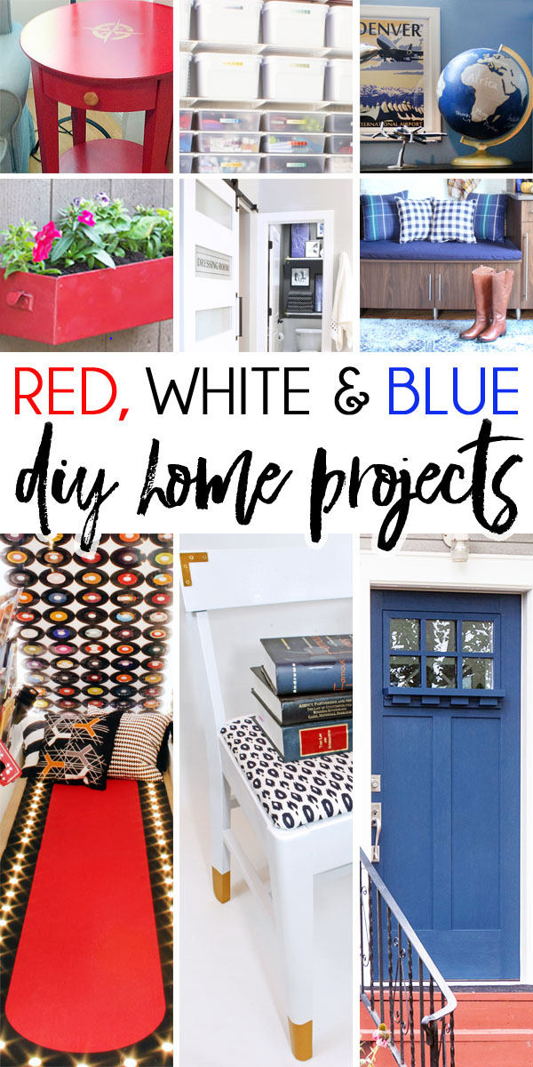 Red White and Blue DIY home projects