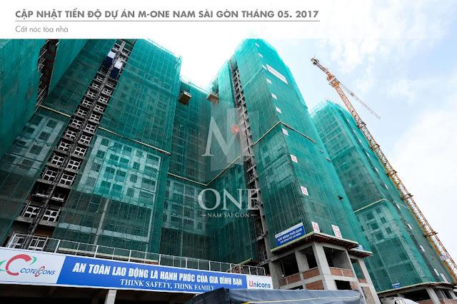 Dự án Masteri M-One quận 7 đang hoàn thiện chuẩn bị giao nhà.