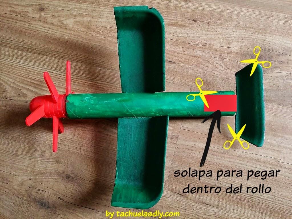 Tachuelas Diy Co Manualidades Diy Con Ninos Avion De Juguete Con - Manualidades-con-objetos-reciclados-para-nios