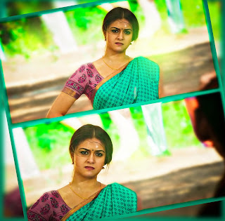 Keerthy Suresh in Saree with Cute Expressions in Pandem Kodi 2