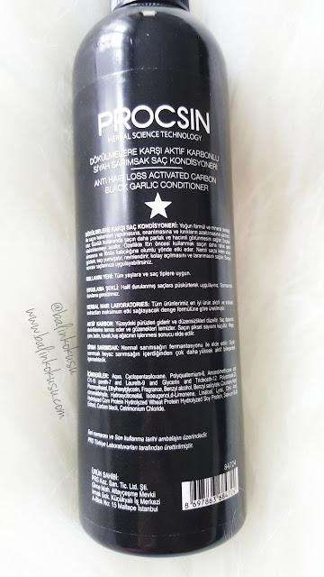 Procsin - Nihat odabasi Dökülmelere karsi Aktif karbonlu Siyah Sarimsak Saç Bakim kremi