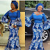 Ankara and Lace Styles Combination : Long Gown