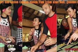 Julia Perez dan Gaston Castano masak Tum Ayam khas Bali, gimana rasanya !!!