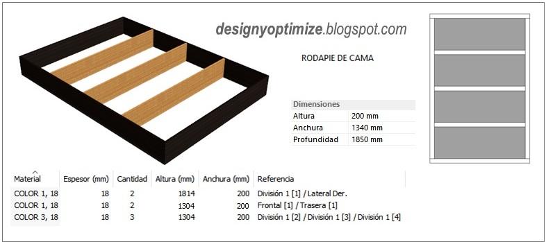 Dise o de muebles madera fabricando cama moderna en for Planos de melamina