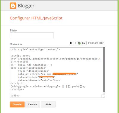 ¿Cómo insertar Adsense justo arriba de la cabecera principal de mi blog?