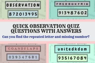 Can you find the repeated letter and missing number quickly?