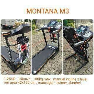 Alat Fitness Treadmill Elektrik Montana M3