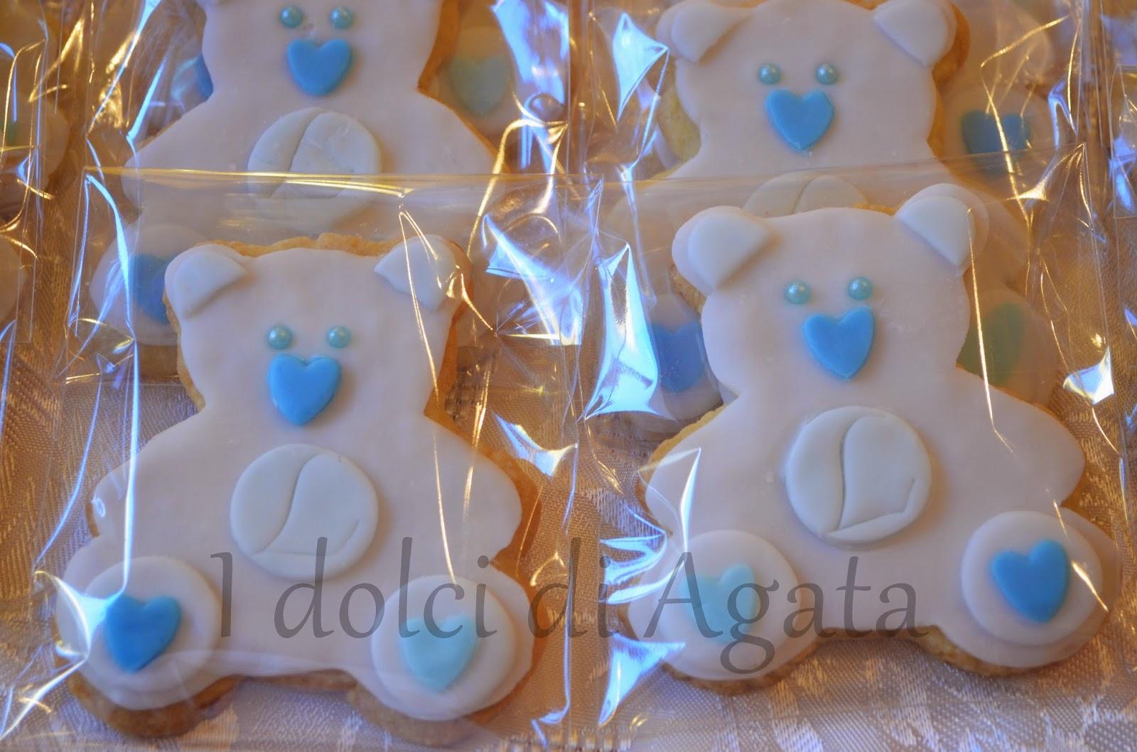 Favorito I dolci di Agata e non solo !!!: Biscotti Orsetto per battesimo PW33