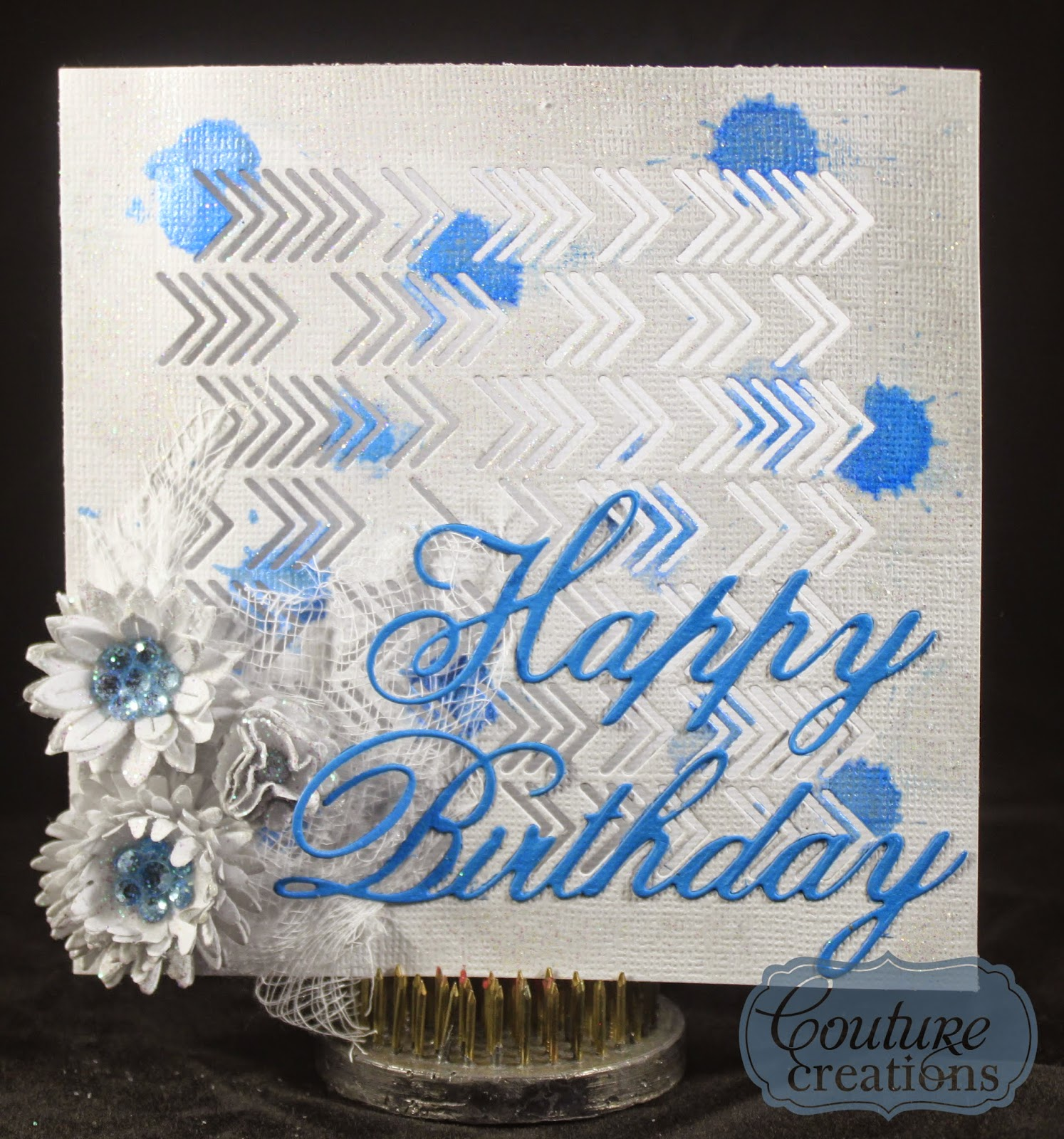 Happy Birthday To My Love Couture: Artdeco Creations Brands: Happy Birthday To Blue By Tracey