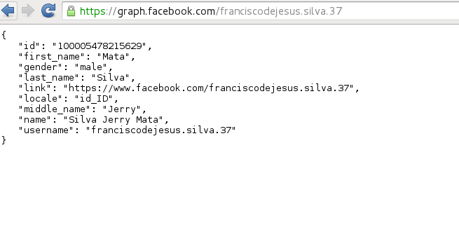 how to get facebook id from username