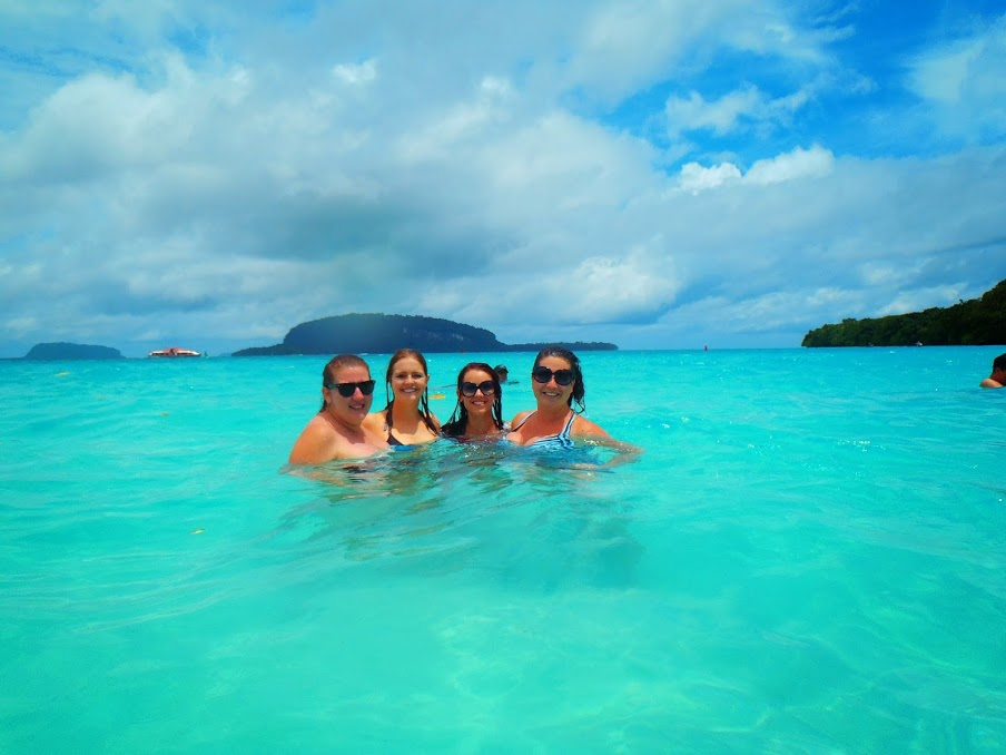 Girls on South Pacific Island Cruise