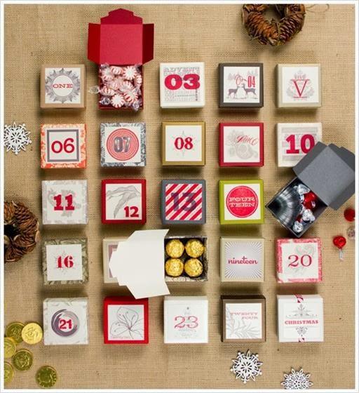 kalendarz adwentowy pudełka