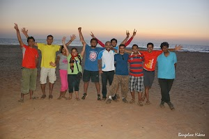 Group photo on the time of sunset at Gokarna beach