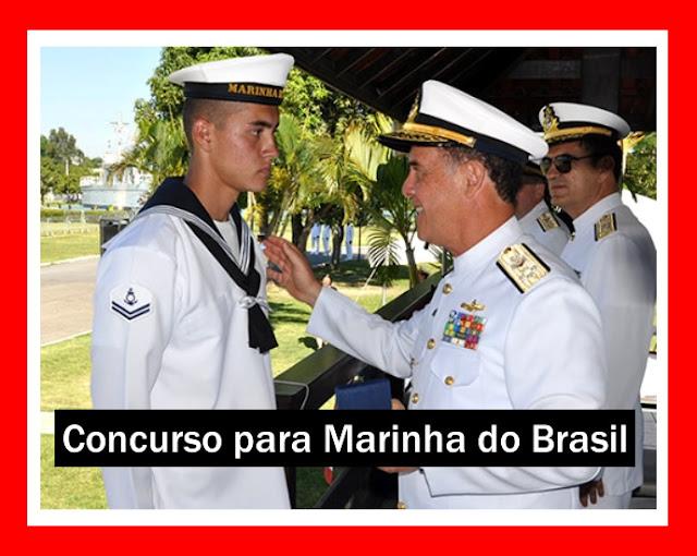 Marinha abre 90 vagas para 15 áreas do Corpo de Praças