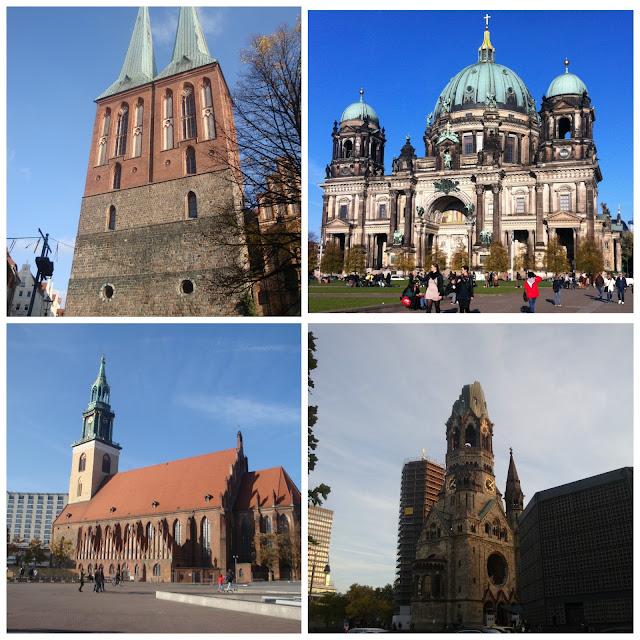 Igrejas em Berlim: Nikolaikirche, Berliner Dom, Kaiser-Wilhelm Gedächtniskirche e Marienkirche