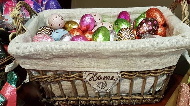 Cesto de ovos de Páscoa