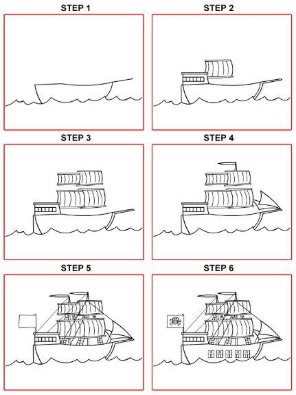 رسم_سفينة_شراعية_سهلة