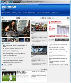 Johny Storage Blue Blogger Template