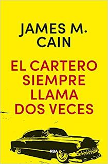 portada de la novela de James M. Cain, El cartero siempre llama dos veces