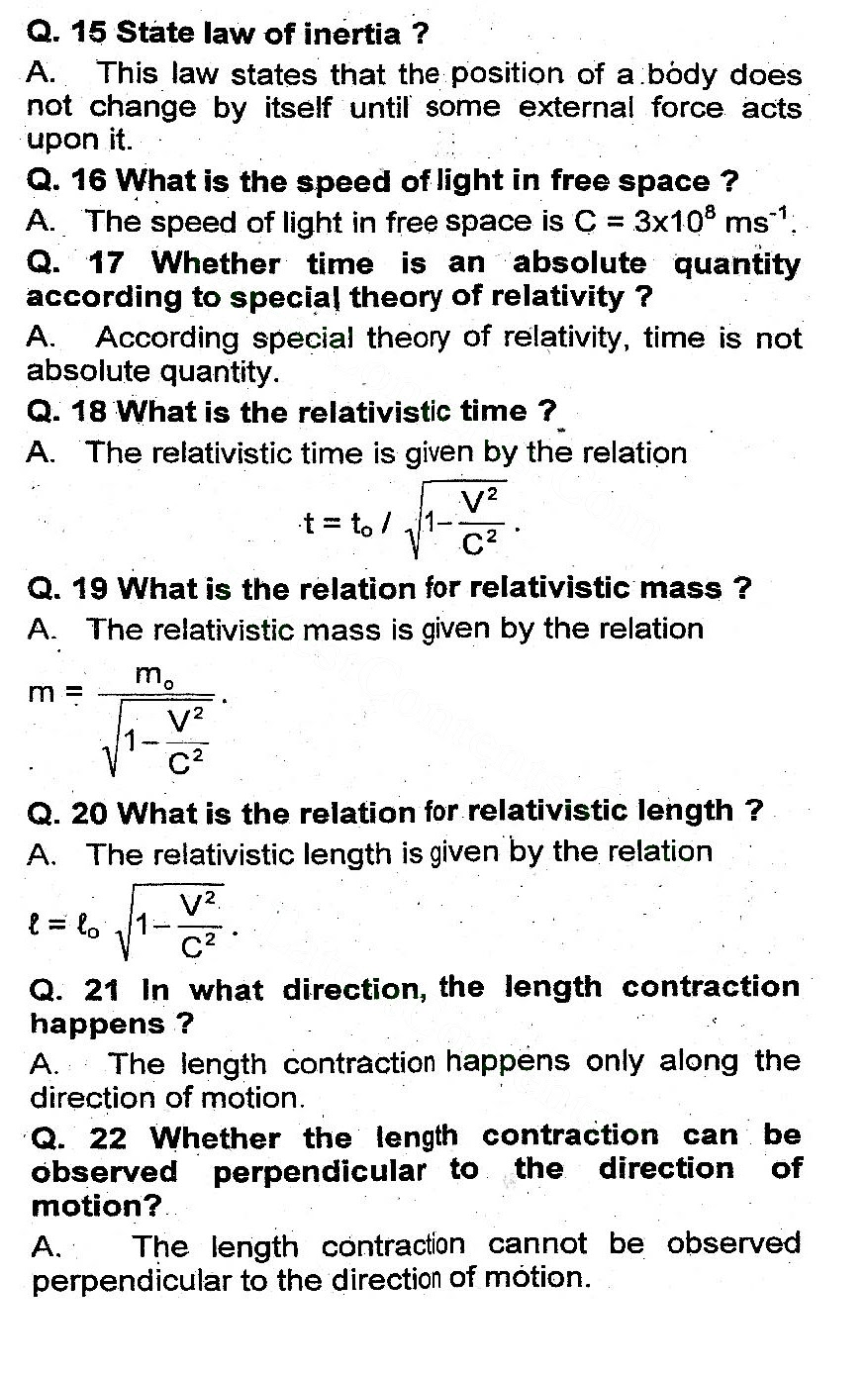 2nd Year Physics Chapter 19 notes