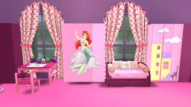 sims 4 cc modern kids room furniture set