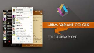 I-BBM Variant Colour V2.7.0.23 Apk Variasi Warna yang Elegant based 3.0