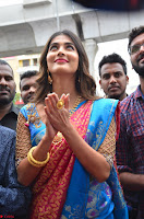 Puja Hegde looks stunning in Red saree at launch of Anutex shopping mall ~ Celebrities Galleries 089.JPG