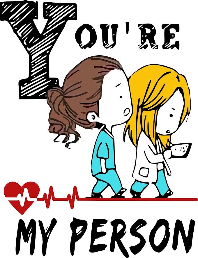 Personajes animados de Grey's Anatomy   You Are my person   JPG de Alta Calidad.