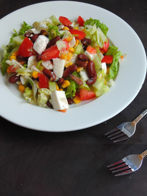 Rajma Salad, Kidneybeans Vegetable Salad