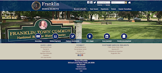 new Town of Franklin home page