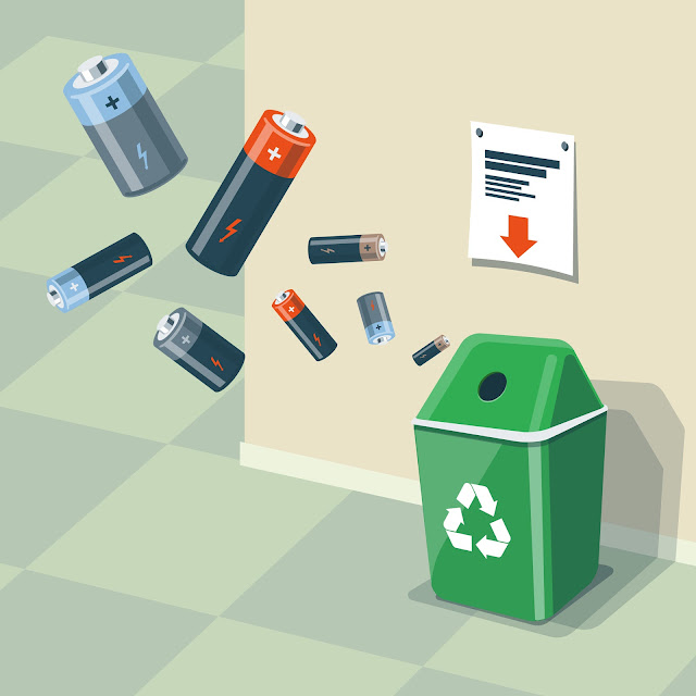 battery waste, waste management, e-waste