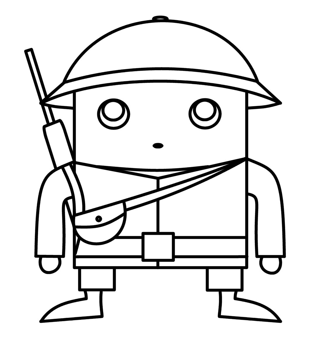 Cartoon soldier drawing