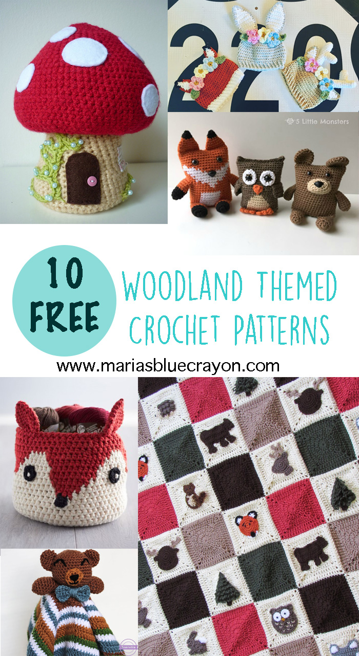 Woodland Crochet Round Up Free Crochet Patterns Marias Blue Crayon