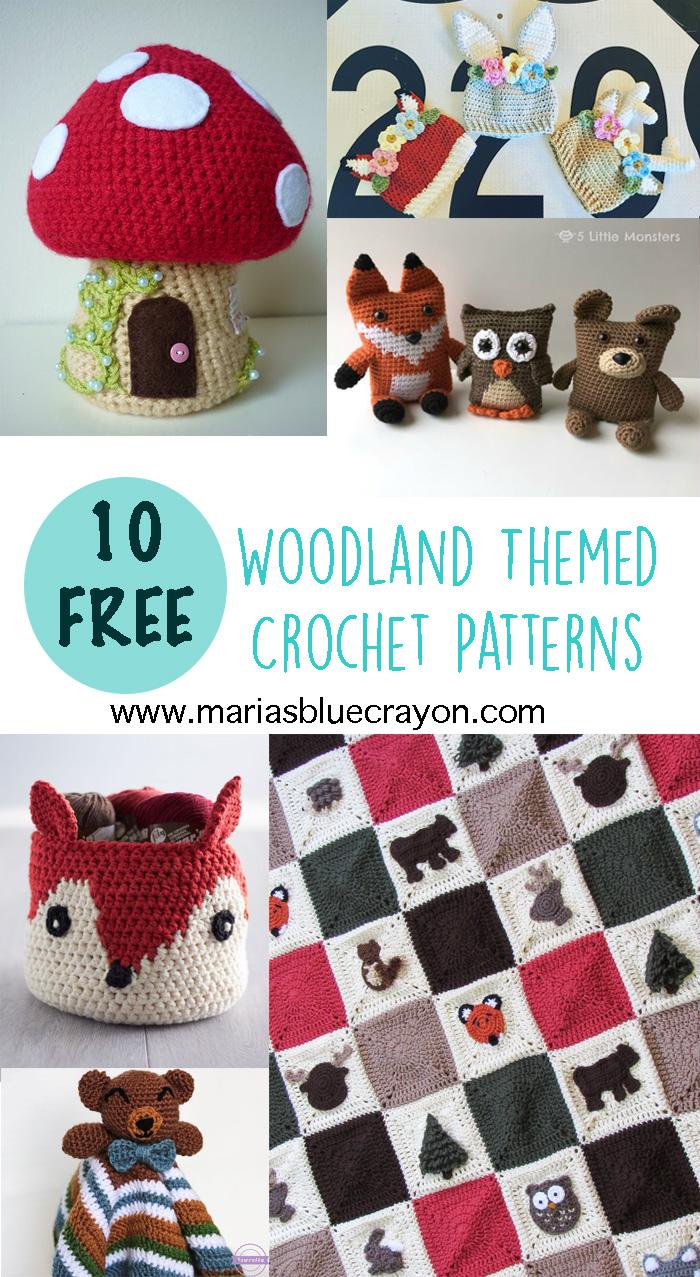 Woodland Crochet Round-Up - Free Crochet Patterns - Maria\'s Blue Crayon