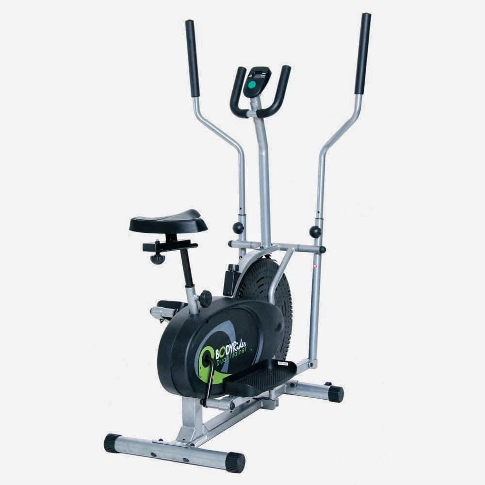 Body Rider BRD2080 2-in-1 Elliptical Trainer & Exercise Bike, review of features, great value, low-impact exercise