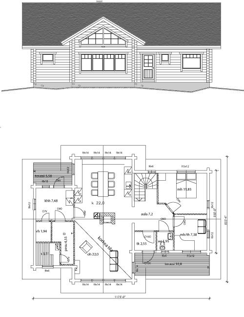 Viviendas unifamiliares arquitectura y construccion for Casa moderna 140 m2