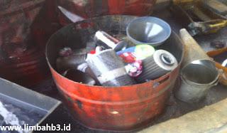 Tumpukan filter bekas di TPS LB3 suatu perusahaan