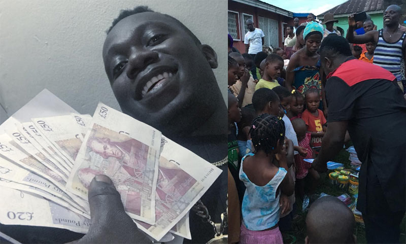 Duncan Mighty shares N550k gift he received to poor women and children