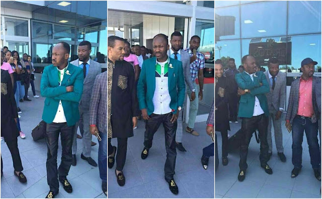 Apostle Johnson Suleman All Swagged Up As He Arrives Cyprus (Photos)
