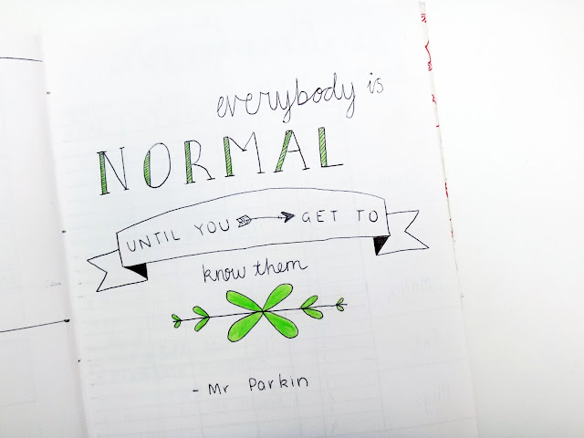 milkywayblog, milkywayblogger, milky way blog, milky way blogger, mwb, georgia, abbott, bullet journal, bujo, journal, quote, quotes, inspiration, teacher, everybody is normal until you get to know them