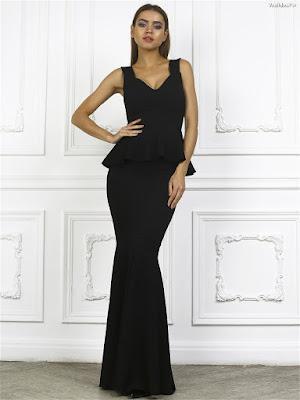 Vestidos negros largos