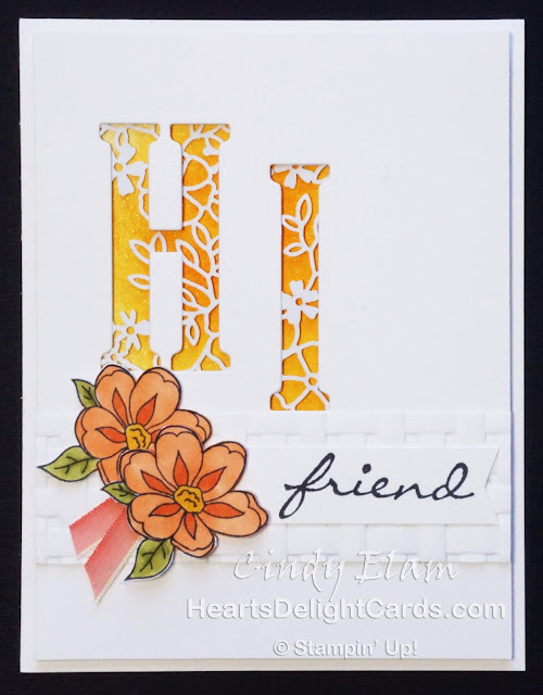 Heart's Delight Cards, Botanical Bliss, Hello Friend, Stampin' Up!
