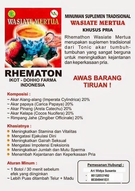 Jamu Wasiat Mertua Rematon Surabaya