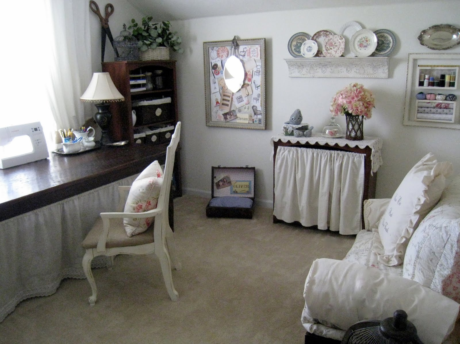 Craft Room Makeovers: Great Ideas -- Decorating Solutions {4}