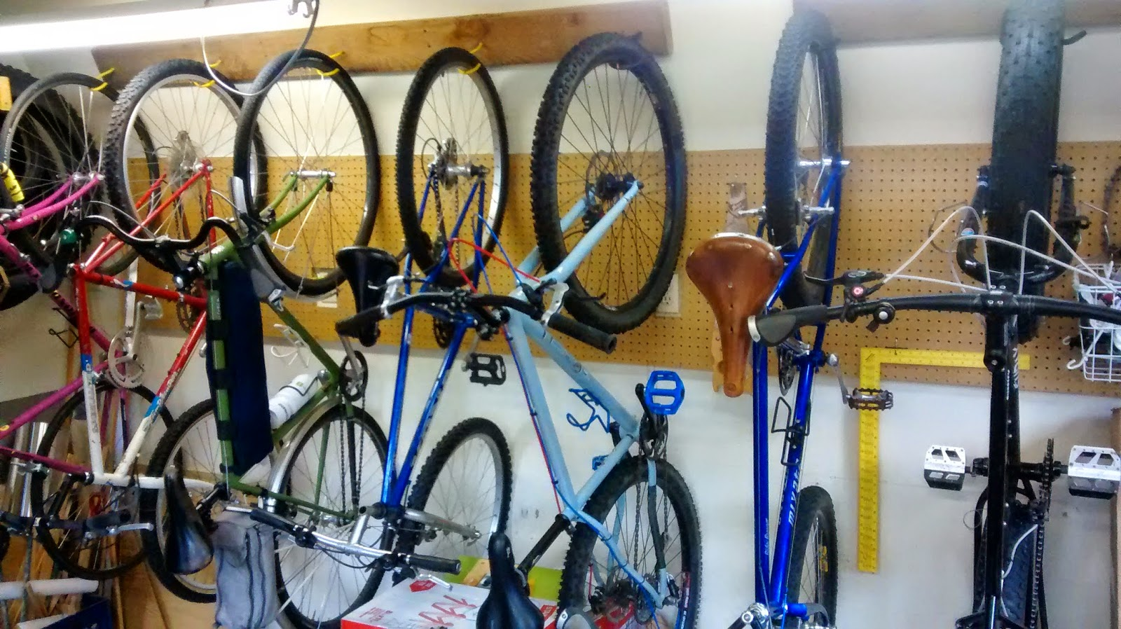 Big Dummy Daddy There S Always Room For One More Diy Hanging Bike Storage