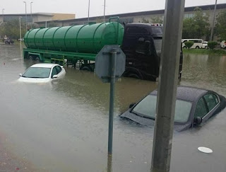 Photo of flooding in Dubai, United Arab Emirates