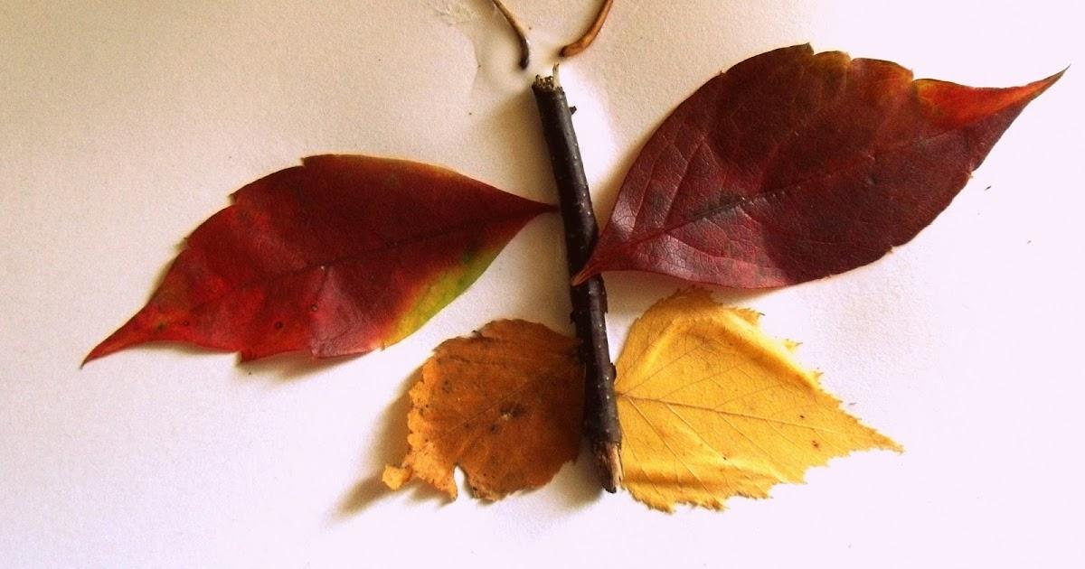 Info garderie papillons d 39 automne un collage nature pour les petits br - Les petits bricoleurs ...
