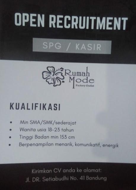Lowongan Kerja Rumah Mode Bandung